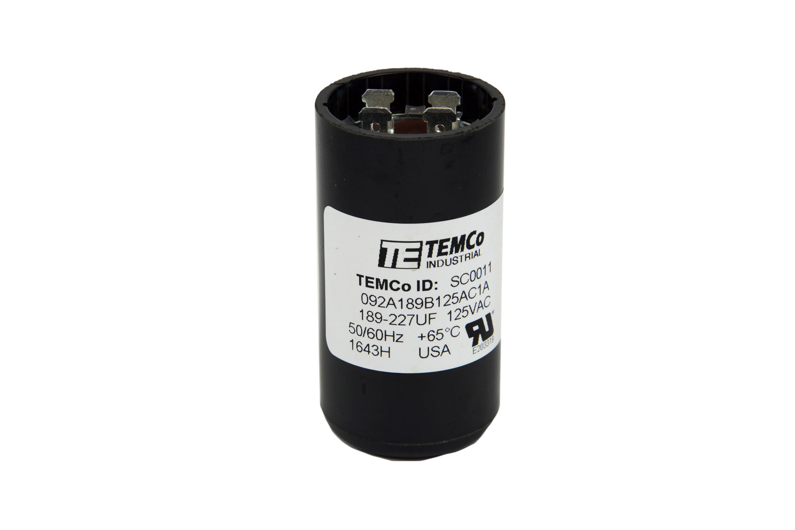 Temco 189 227 mfd uf electric motor start capacitor 110 for How to test a motor start capacitor