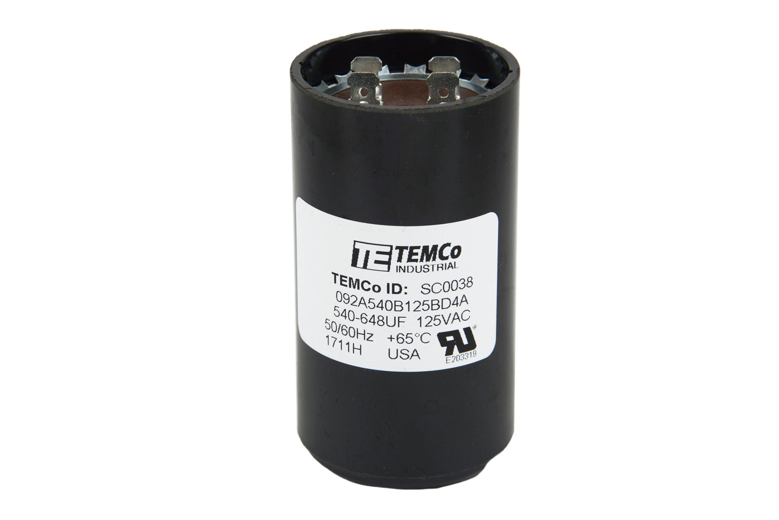Temco 540 648 Mfd Uf Electric Motor Start Capacitor 110