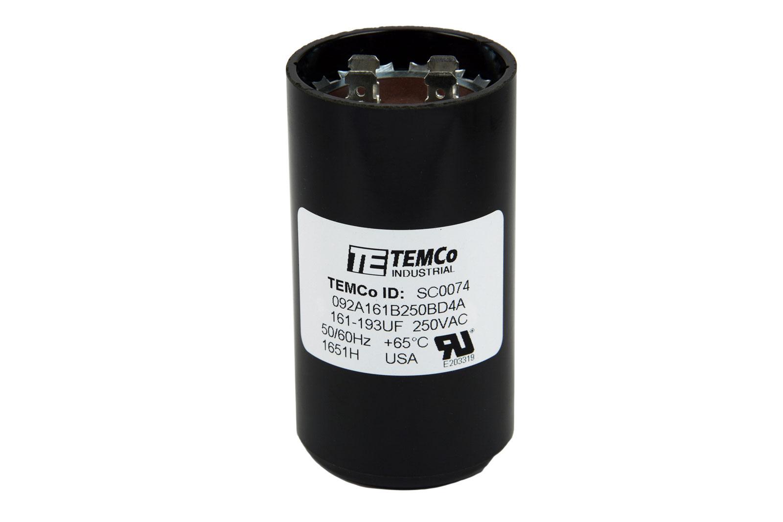 Temco 161 193 Mfd Uf Electric Motor Start Capacitor 220