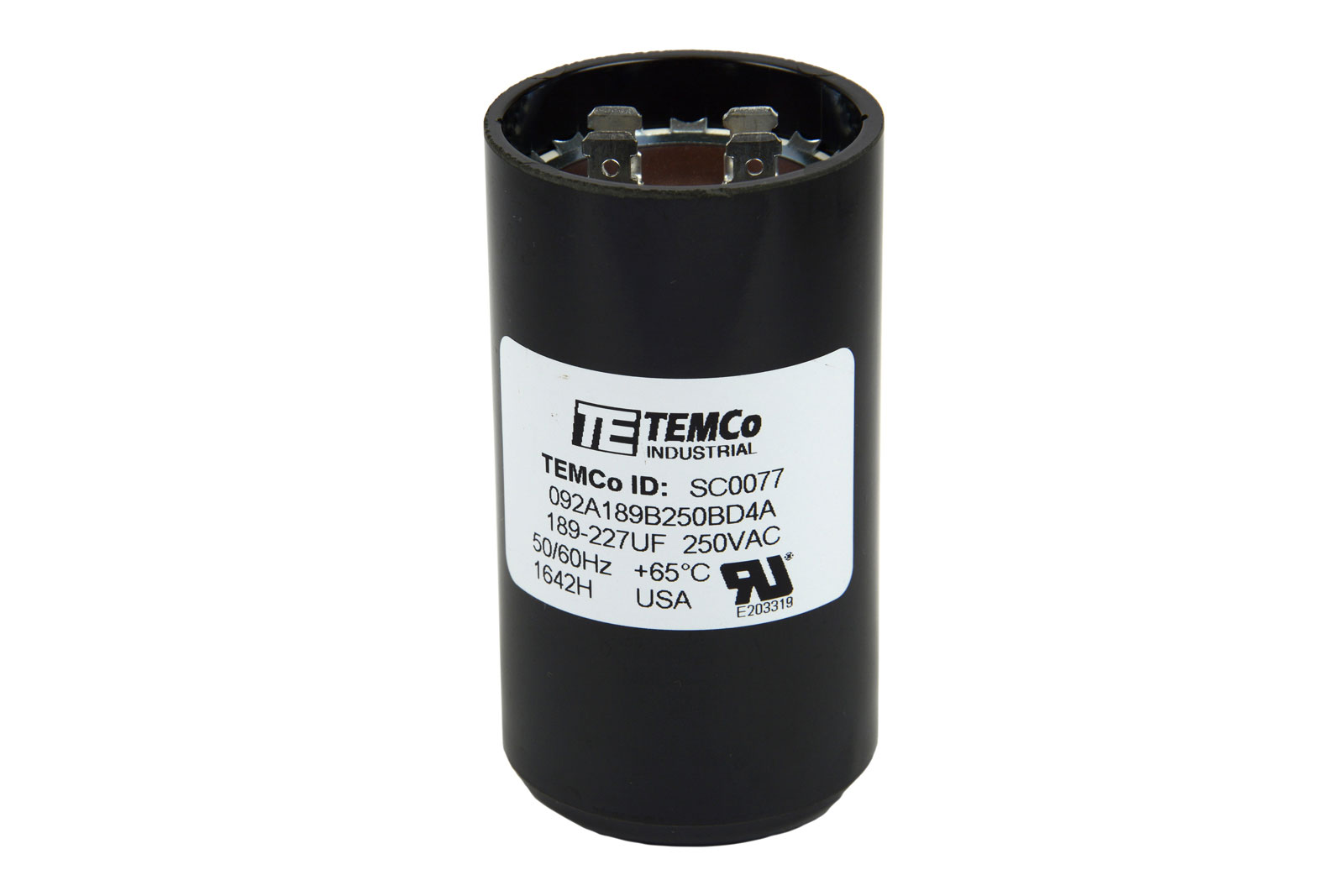 Temco 189 227 Mfd Uf Electric Motor Start Capacitor 220