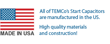 TEMCo Start Capacitors made in USA
